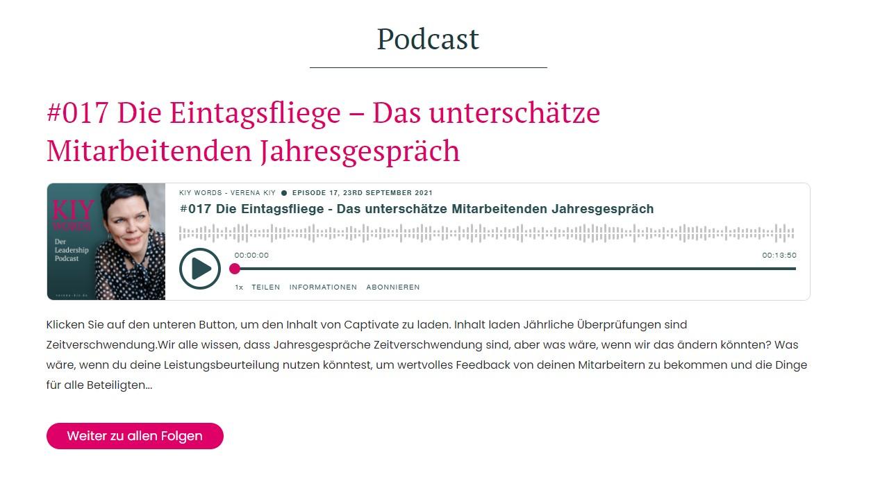 Podcast in Website einbinden - HTML Vorschau blockierter Inhalt